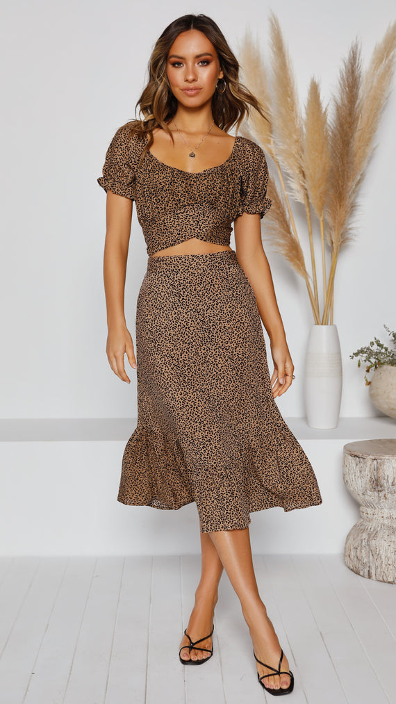 Dream On Skirt - Coco Leopard