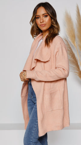 Windsor Knit Cardigan - Blush