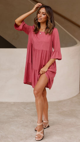 Sweetness Mini Dress - Rose