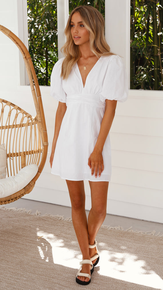 Right Mindset Dress - White