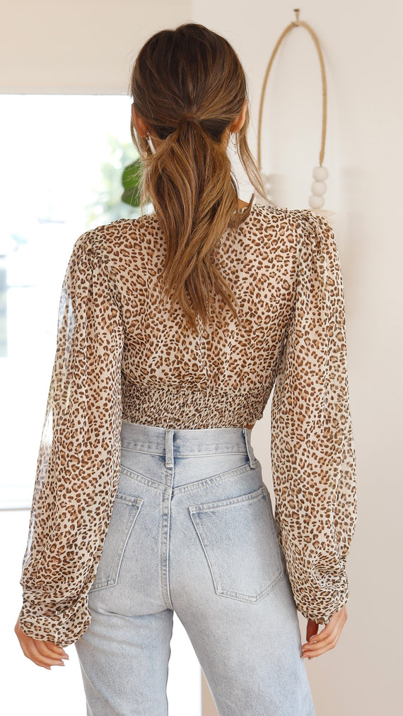 Cerelia Top - Leopard