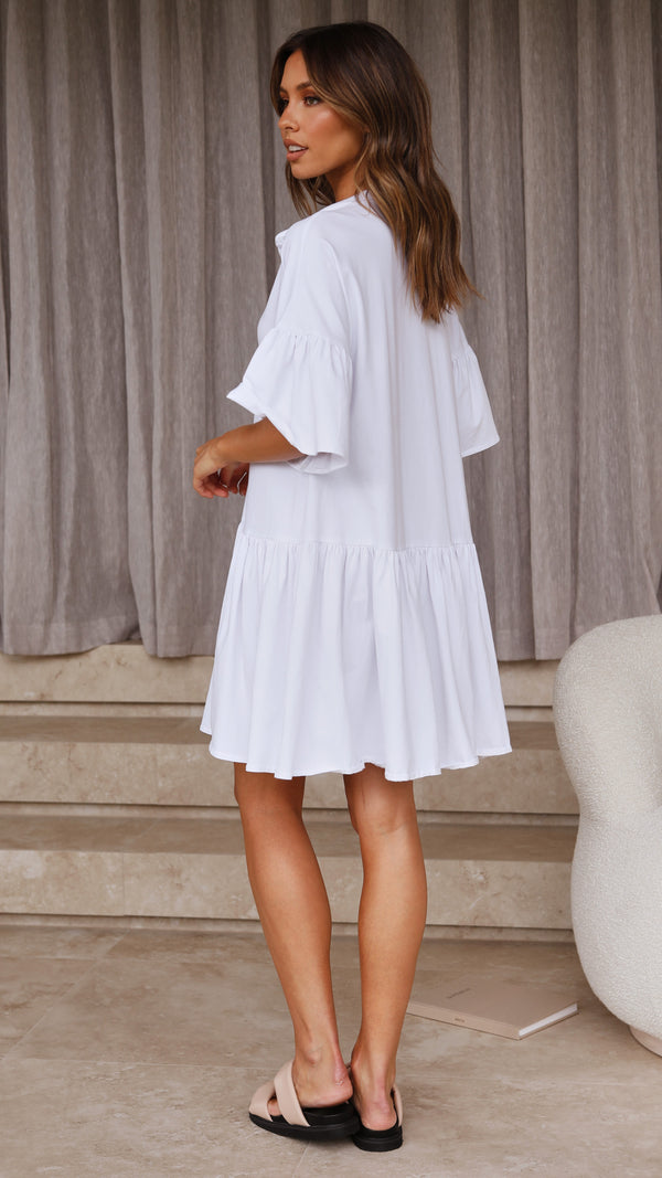 Alia Dress - White