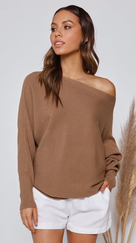 Tulah Knit Top - Coffee
