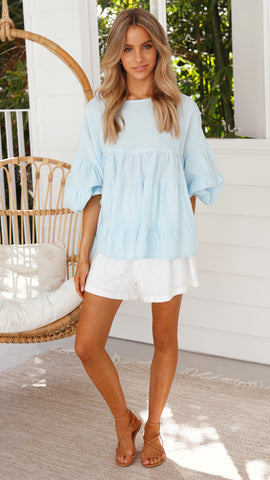 Lulu Locco Top - Sky Blue