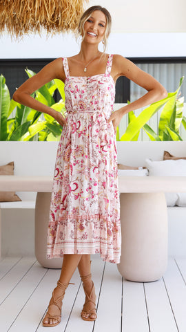 Willow Dress - Pink Floral