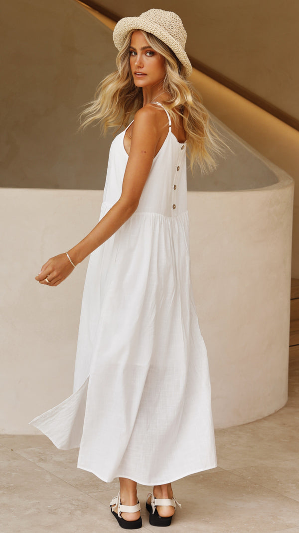 Whitney Dress - White