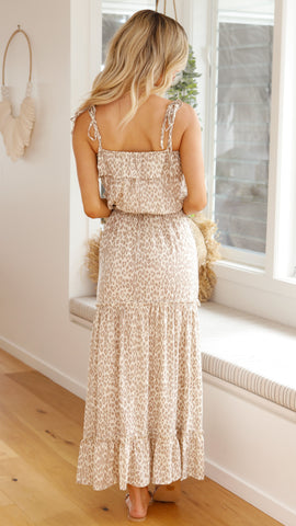 After Dawn Maxi Dress - Leopard