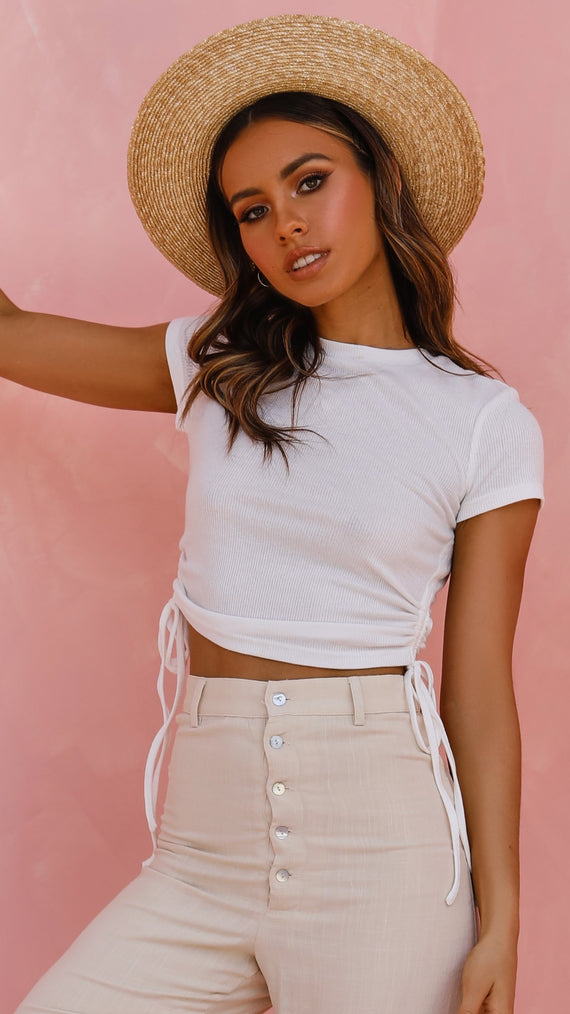 Pearl Crop Top - White