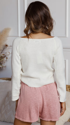 Emilee Knit Top - White
