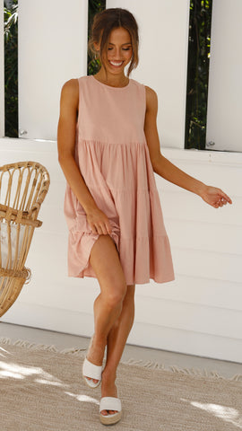 Lulu Mini Dress - Blush