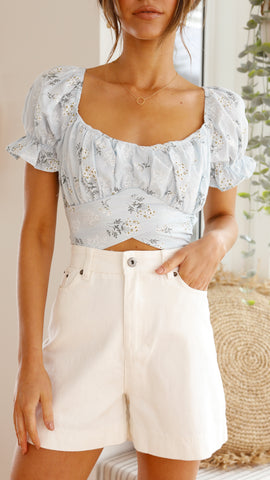 Sparrow Shorts - White Denim