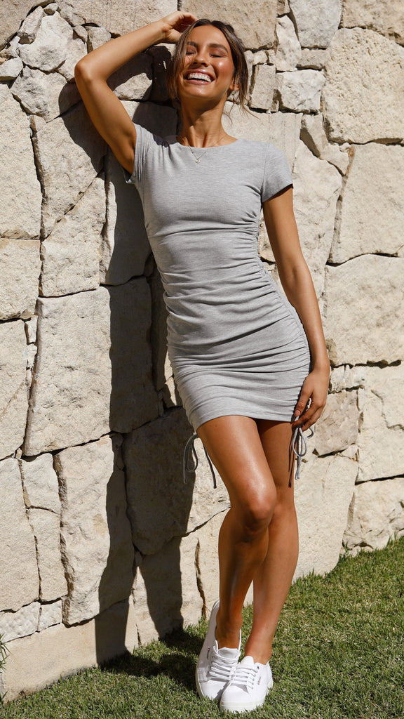 Chels Dress - Grey Marle