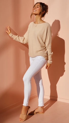 Tulah Knit Top - Beige