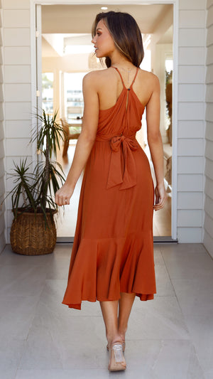 Angie Dress - Rust