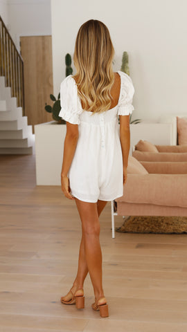 Lany Playsuit - White
