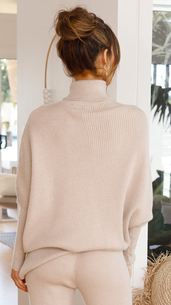 Naya Knit Top - Beige