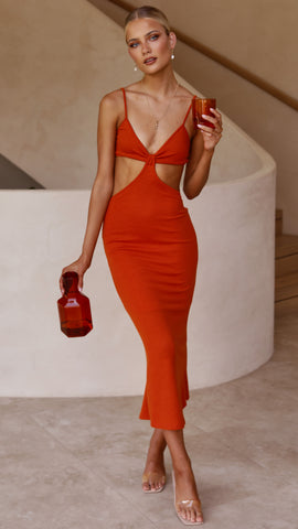 Zannie Dress - Blood orange