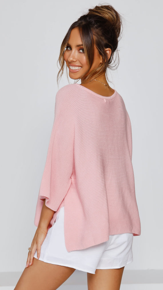 Calista Knit Top - Blush