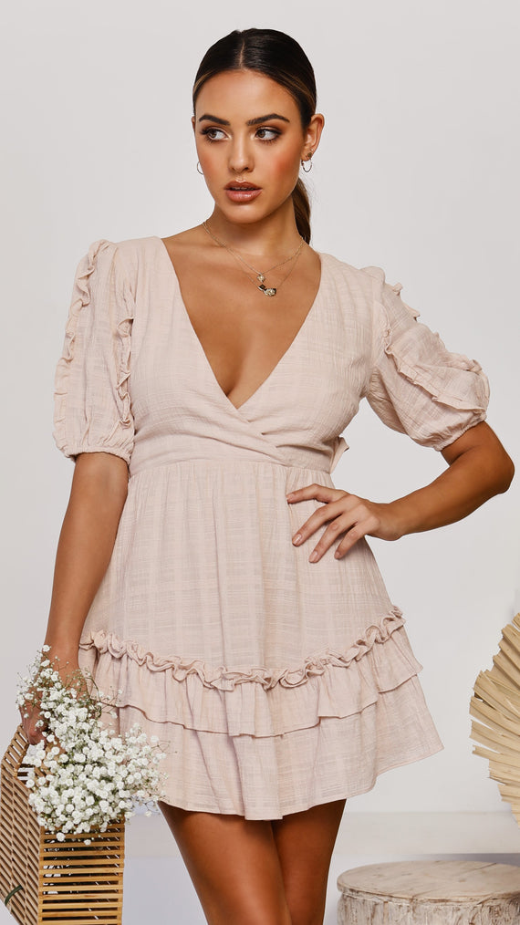 Intentions Dress - Beige