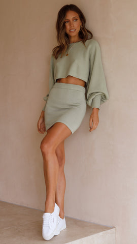 Lovers Knit Top - Sage Green