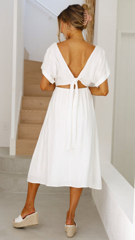 Jordyn Midi Dress - White