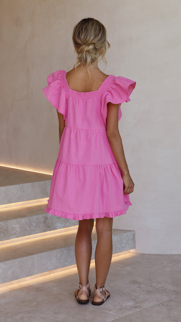 Fayth Dress - Fuchsia