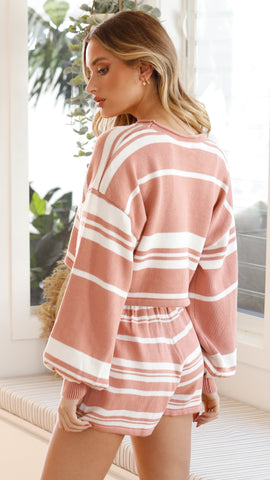 Clarissa Set -Terracotta/White Stripe