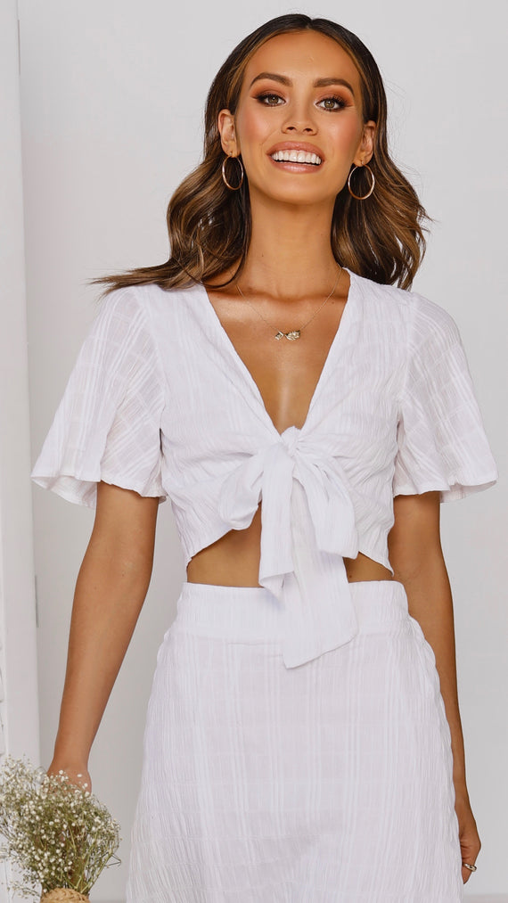 Oaklynn Top - White