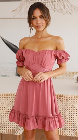 Tiana Dress - Rose