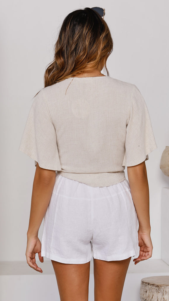 Al Fresco Wrap Top - Natural