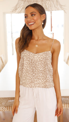 Freedom Cami Top - Leopard