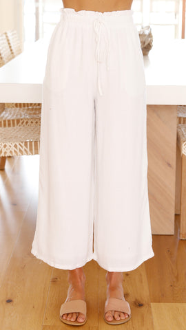 Juliette Pants - White