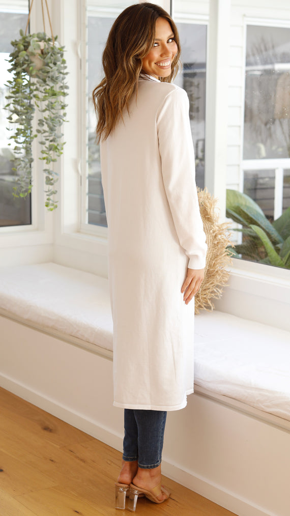 Aimee Skivvy Split Front - White