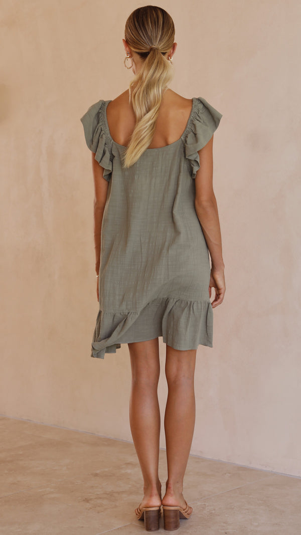 Jaida Dress -Khaki