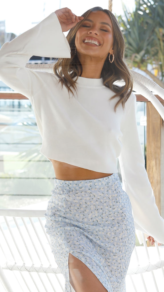 Shelly Cropped Knit - White