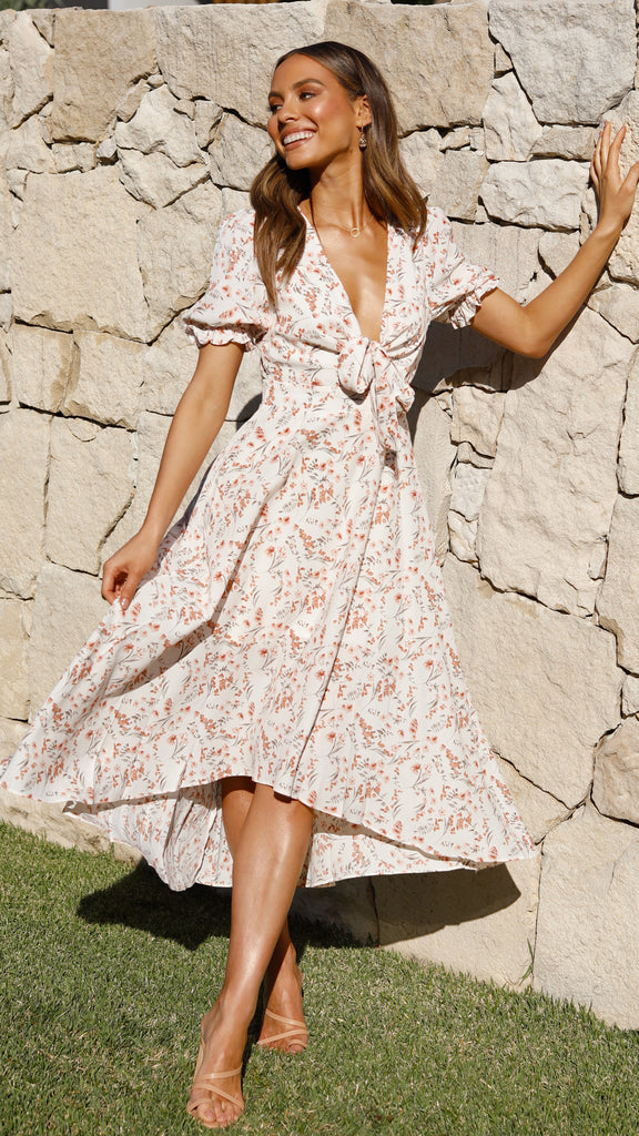 Hailee Dress - Rust Floral