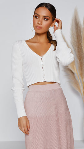 Cielle Knit Top - White