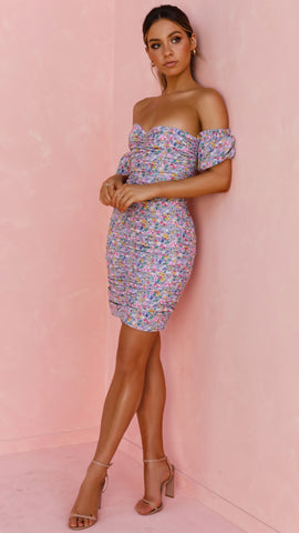 Isla Dress - Purple Floral
