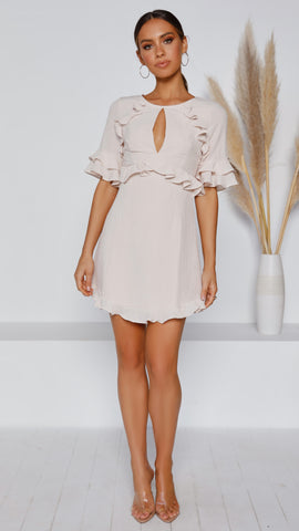Coralie Dress - Champagne Pink