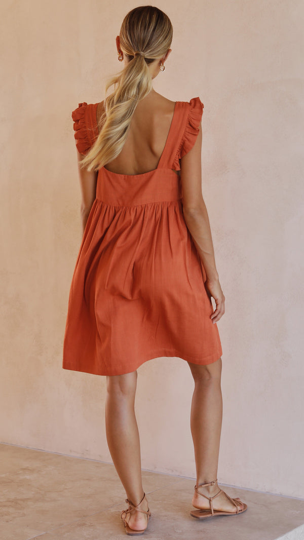 Josifine Dress - Rust