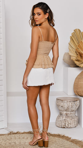 Front Notch Skirt - White