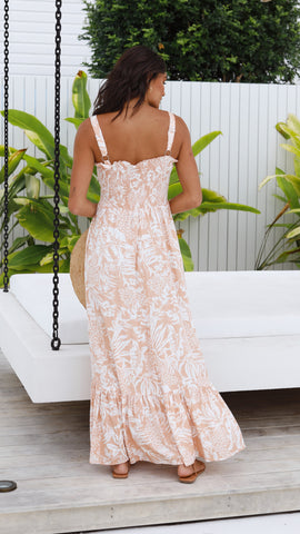 Yaretzi Maxi Dress - Peach