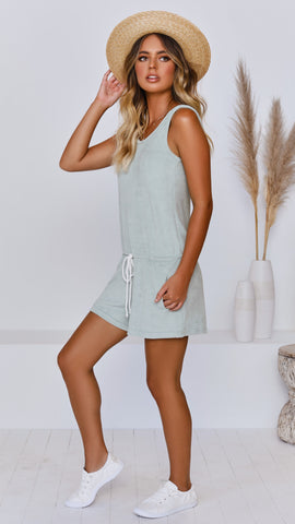 Pretty Jane Playsuit - Green