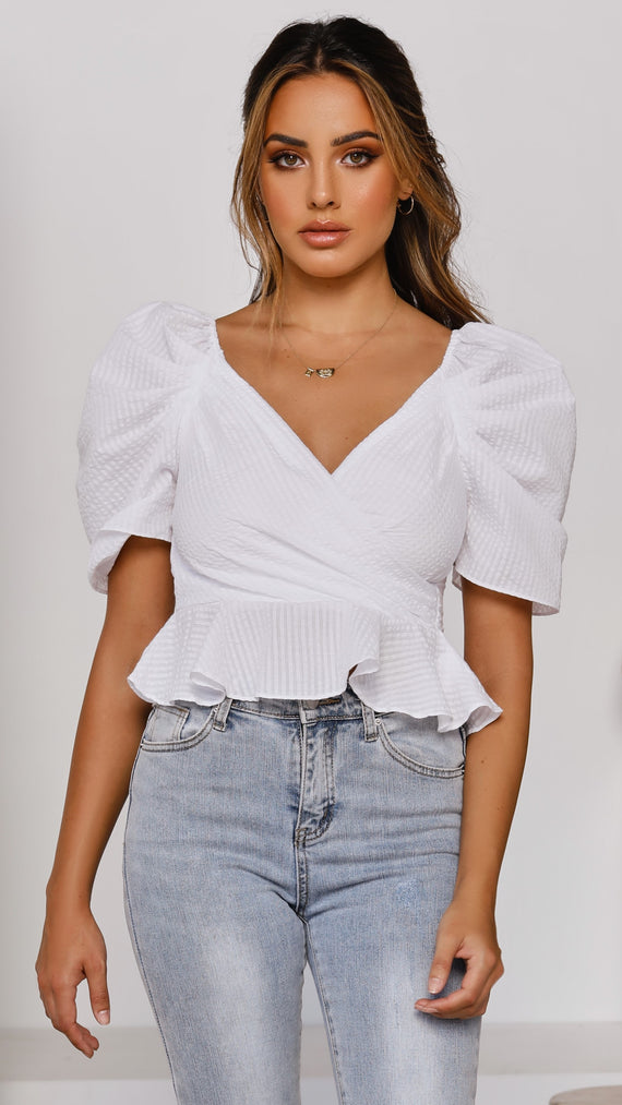 Aurora Crop Top - White