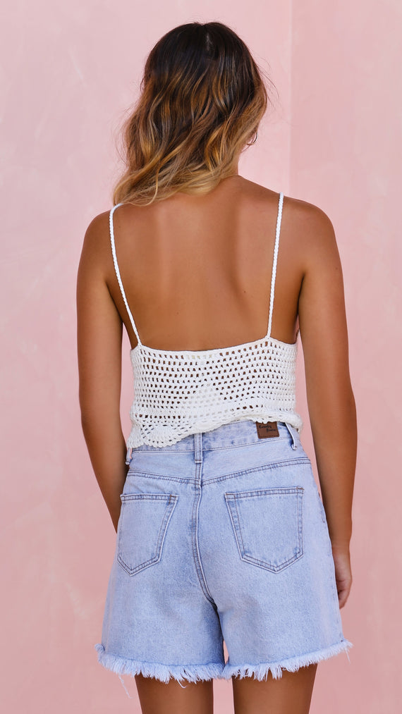 Lucinda Crochet Top - White