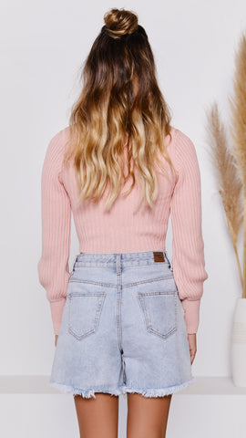 Cielle Knit Top - Blush