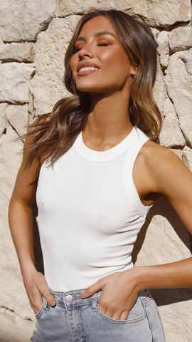 Staple Tank - White