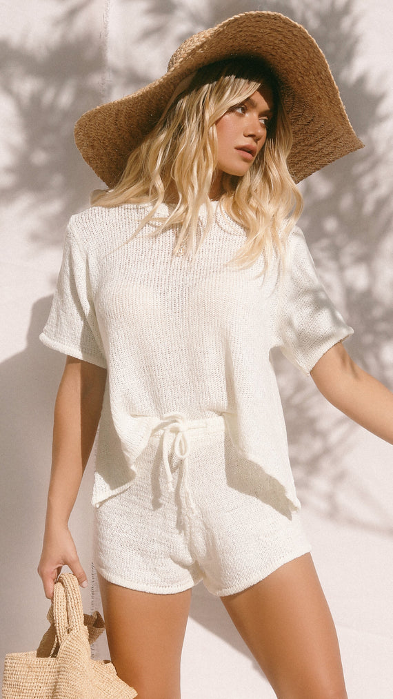 Solace Knitted Set - White