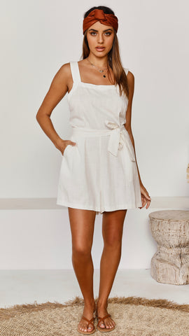 Holland Playsuit - White