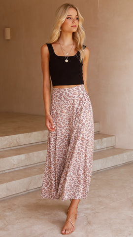Adriana Pants - Light Leopard